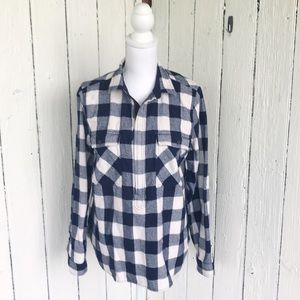J. Crew Popover flannel buffalo plaid 🐃 size M
